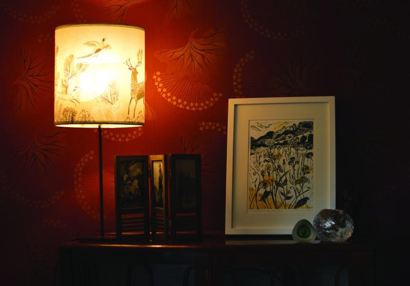 Wildflowers & lamp